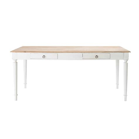 mango wood dining table w 180cm bergerac maisons du monde
