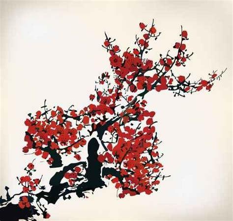 imágenes flores japonesas murales flores floral pintura japonesa flores rojas