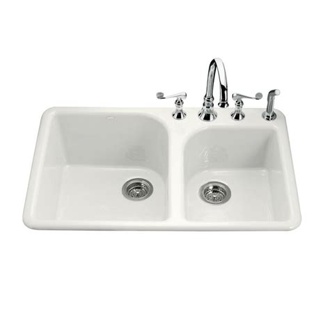 kohler executive chef sink shop kohler executive chef 22 in x 33 in white