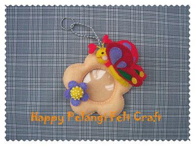 Plat Gantungan Pigura Bingkai Ukuran Kecil happy pelangi felt craft gantungan kunci frame photo mini