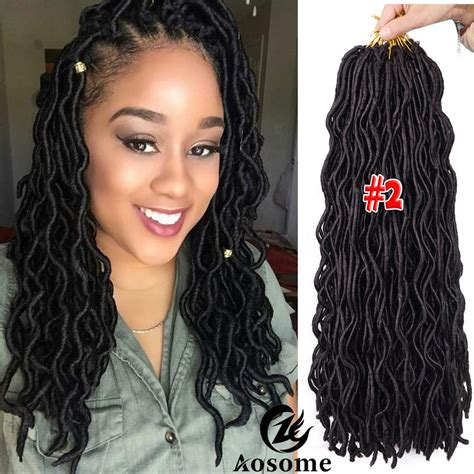 different styles to pack dreadlocks 3 packs 20 quot faux locs hair extensions goddess crochet