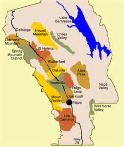 Map From San Francisco To Napa Valley by Wine Mise En Abyme May 2012