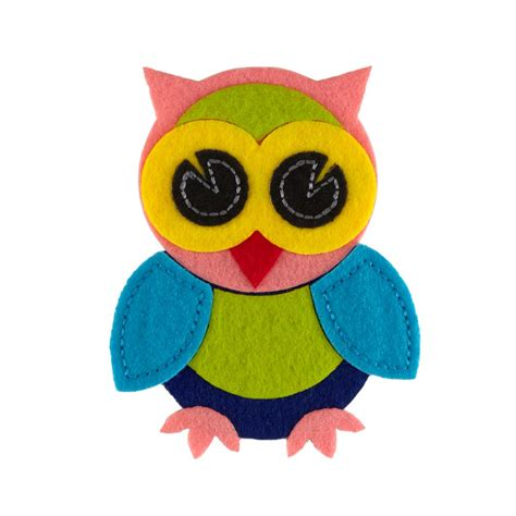 felt applique owl felt applique pink discount designer fabric fabric