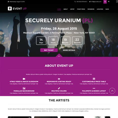 free event up joomla template by joomfreak