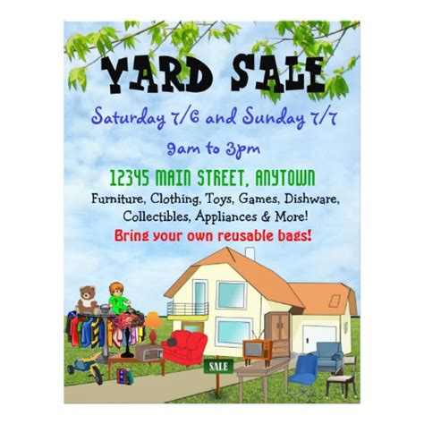 custom yard or garage sale flyers zazzle