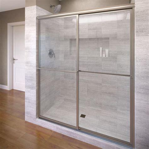 glass shower doors philadelphia basco deluxe 59 in x 71 1 2 in clear framed bypass