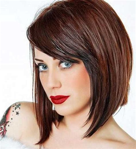 Bob Hairstyles With Bangs by 20 Angled Bobs With Bangs Bob Hairstyles 2017