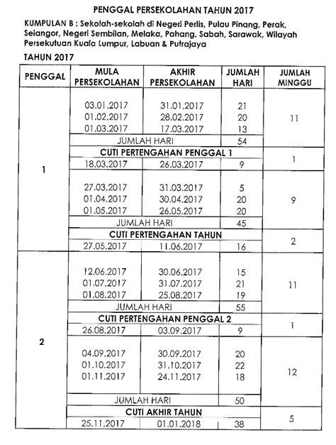 Kalender 2018 Dengan Cuti Sekolah Kalendar 2017 Cuti Umum Dan Cuti Sekolah Malaysia
