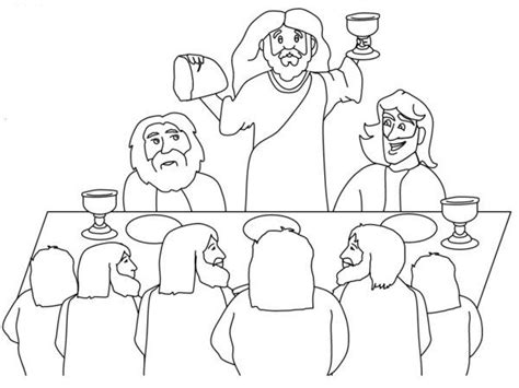 coloring pages jesus last supper 50 best images about primary color by number on