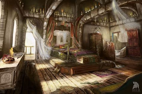bedroom fantasy the elven mage paanoras room in the magician tower in the