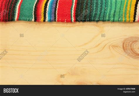 Fiesta Mexican Poncho Rug Bright Image Photo Bigstock Mexican Themed Powerpoint Template