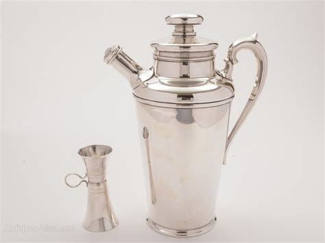 art deco shaker antiques atlas art deco silver plated large cocktail shaker