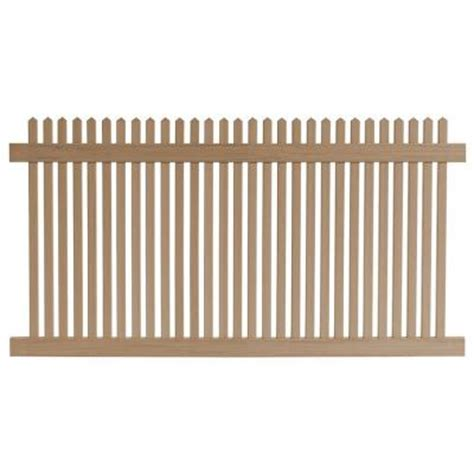 picket fence sections home depot veranda 4 ft h x 8 ft w cedar grove redwood vinyl picket