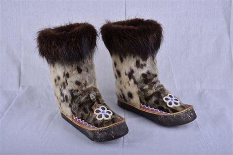 Handmade Mukluks - collectible alaskan handmade seal fur mukluks