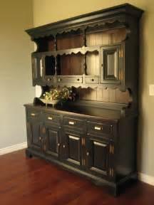 What Is A Hutch Furniture European Paint Finishes Rustic Black Farmhouse Hutch