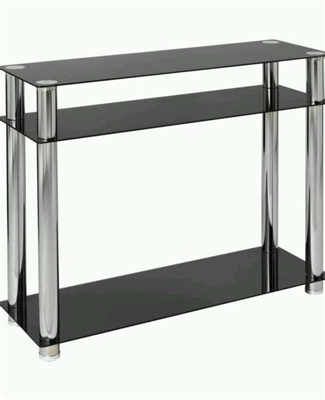 Kitchen Island With Butcher Block Contemporary Modern Rectangle Black Glass Console Table