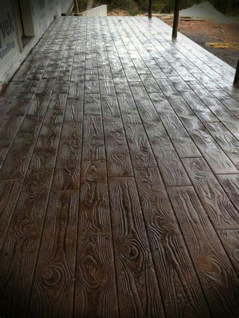 Wood Stamped concrete floors  AMAZING!   For the Homestead