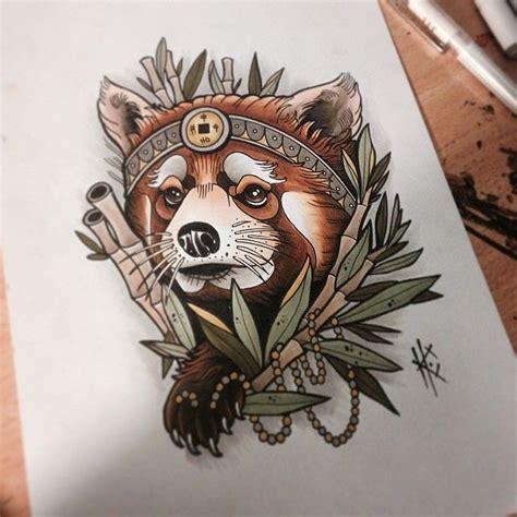 panda traditional tattoo tribal red panda tattoo www pixshark com images