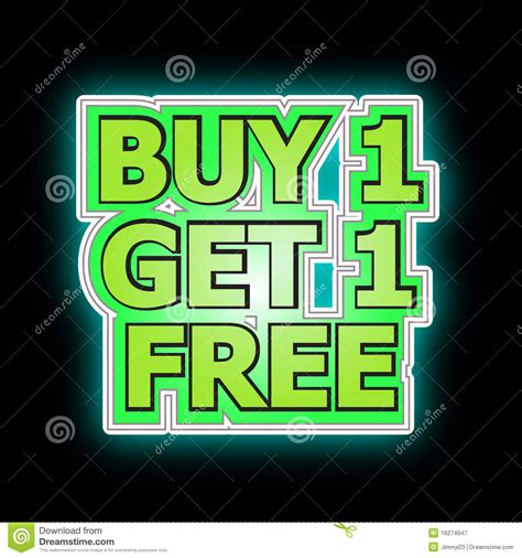 Buys On by Buy One Get One Free Royalty Free Stock Photography