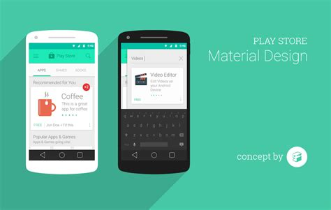 google play store material design concept by