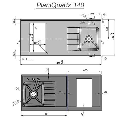 Evier Avec Plan De Travail by Plan De Travail Monobloc Planiquartz Avec 233 Vier 224 Droite