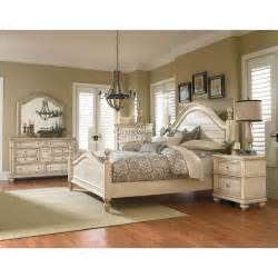 Bedroom Furniture Set White Heritage Antique White 6 King Bedroom Set