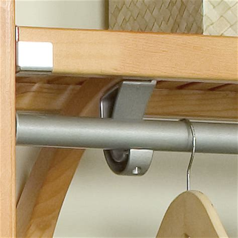 Wall Shelf With Clothes Rod by Louis Home Jlh 528 Premier 12 Inch