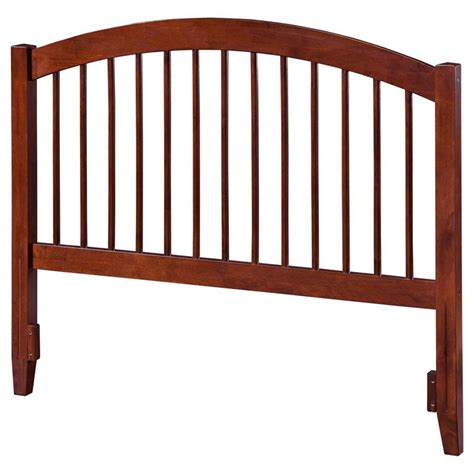 walnut headboards atlantic furniture windsor queen spindle headboard in walnut ar294844