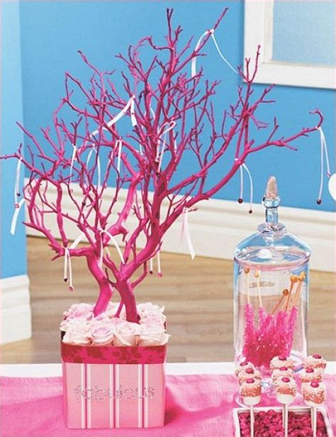 tree branch centerpieces diy this pink tree branch centerpiece found centerpieces trees