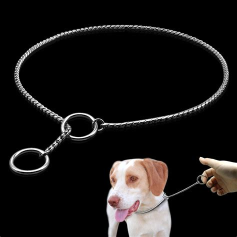 puppy collar size collars snake p slip choke collar metal chain for dogs size xs s m large