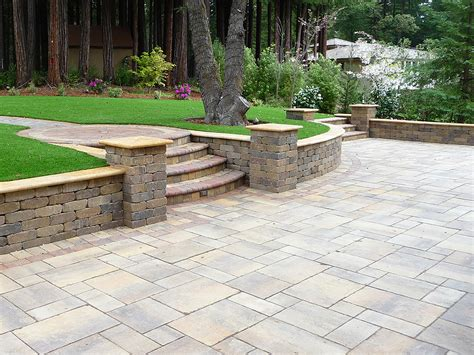Backyard Stone Patio Ideas Calstone Stone Paving Driveway Pavers Retaining Wall