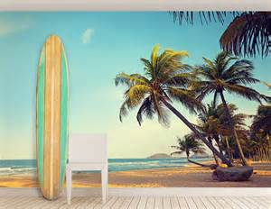 relaxing beach self adhesive wall mural contemporary wall stickers