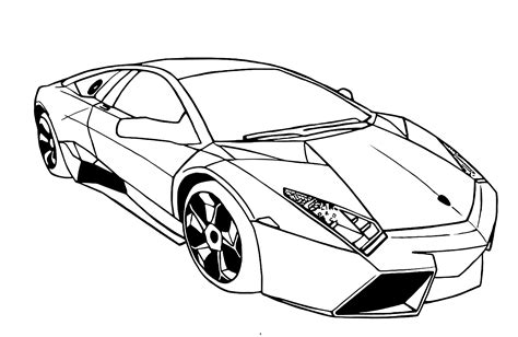 different cars coloring pages lamborghini coloring pages to print