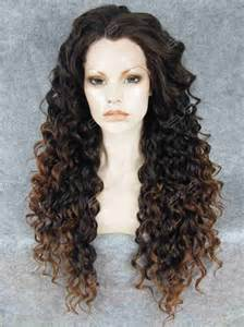 pink black friday sale brown ombre long curly synthetic lace front wig