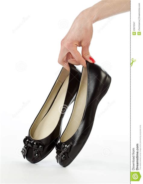 Flat Shoes Nobody holding pair of flat shoes royalty free stock photography image 23670347