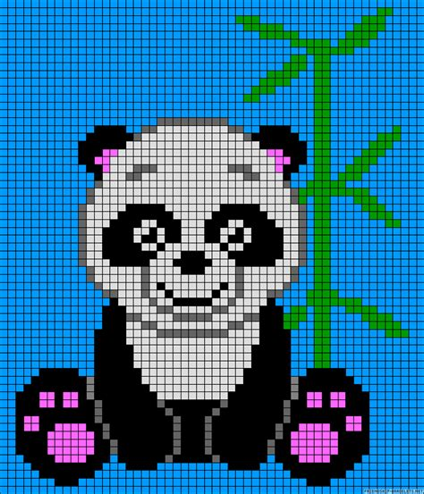 panda pixel template a57047 friendship bracelets net