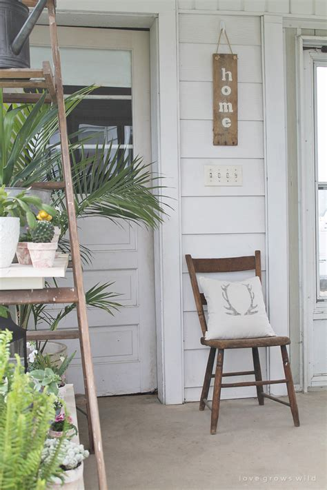 antique ladder shelving grows