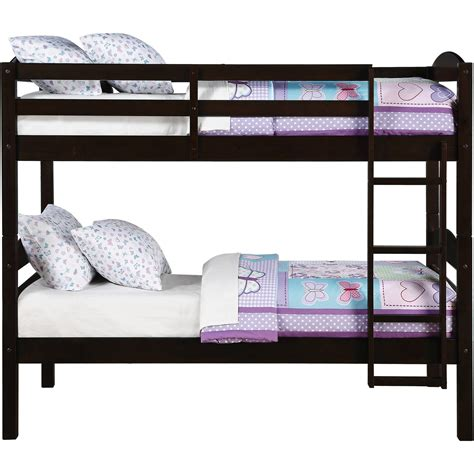 twin bunk bed for kids converts to two solid wood guard rails ladder espresso ebay bunk beds twin over twin kids furniture bedroom ladder wood convertible bunkbeds ebay
