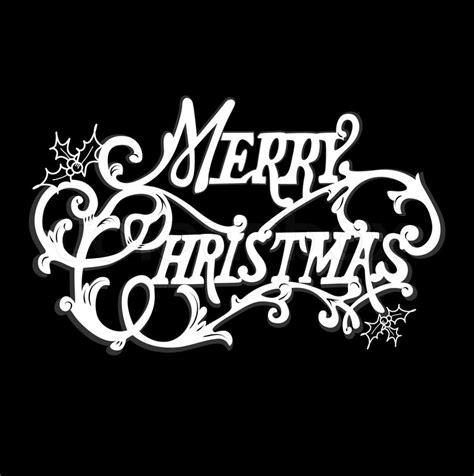 black  white christmas card merry christmas lettering vector colourbox