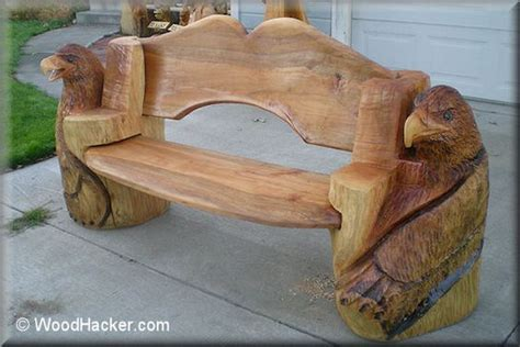 chainsaw bench logs chainsaw carved benches log bed cabin decor 1 08