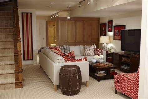 ikea basement ideas sarah richardson design basement family room with ivory