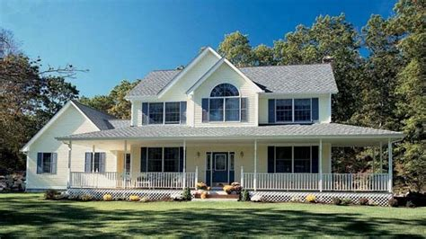 farm style house plans with wrap around porch farm house