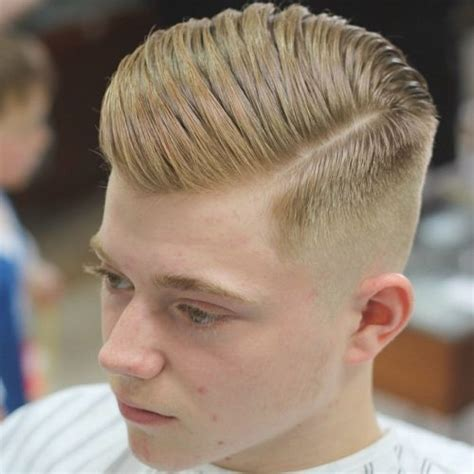 hair comb to the side but hair cut cute short on the other side for guys the side part haircut a classic style for gentlemen