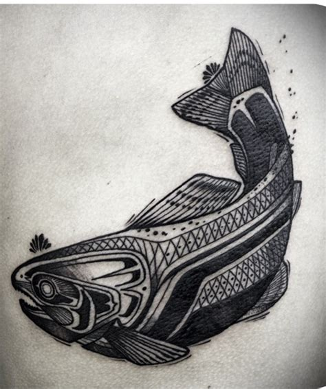 tattoo mandala fish fish tattoo on back by david hale design of