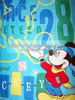 Sprei Bedcover Katun 160x200x30 Mickey Dottie Merah Grosir Selimut Penthouse Mydream Selimut Bulu