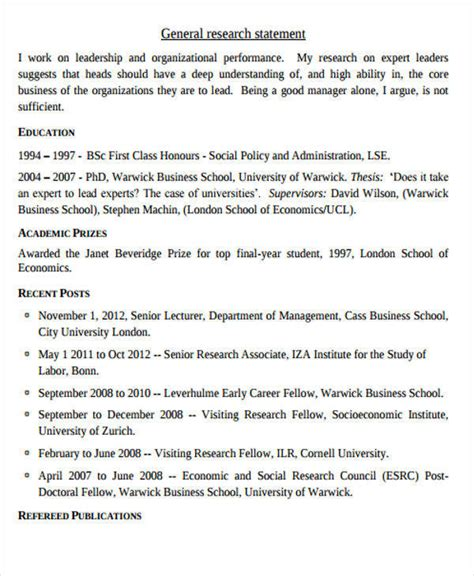 Cass Mba Essays by Personal Statement Exle Graduate School Research Paper