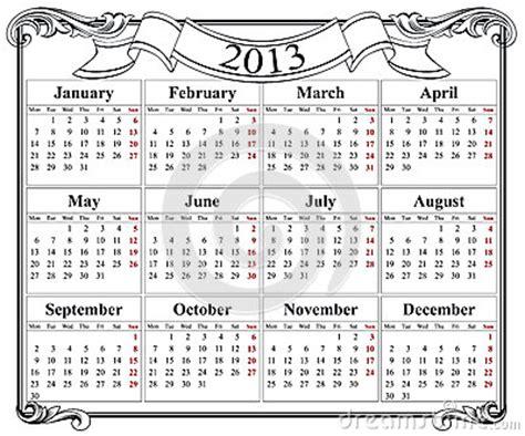 Calendario Retro 2013 Retro Calendar Grid Stock Image Image 25302251