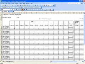 Business Forecast Spreadsheet Template by Sales Forecast Template Excel Templates