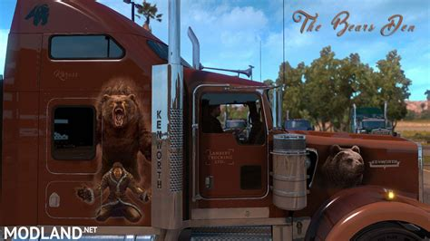 custom kenworth the bears den khross custom skin kenworth w900 mod for