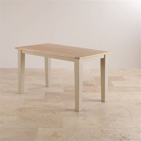 Truf Uk Original camborne painted dining table in acacia with oak top